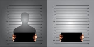 Linhas de medição mugshot Foto de Stock Royalty Free