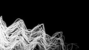 linhas de néon de incandescência da luz ultravioleta do sumário 4K ilustração do vetor