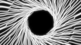 linhas de néon de incandescência da luz ultravioleta do sumário 4K ilustração royalty free