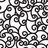 Linhas de ondulação de ondulação sem emenda abstratas, fundo preto e branco Fotografia de Stock Royalty Free