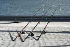 Linhas de pesca Fotos de Stock Royalty Free