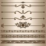 linhas decorativas Fotografia de Stock Royalty Free