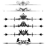 Linhas decorativas da régua Imagem de Stock Royalty Free