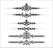 Linhas decorativas da régua ilustração royalty free