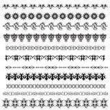 Linhas decorativas da régua ilustração stock