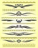 Linhas decorativas da régua no projeto diferente ilustração do vetor