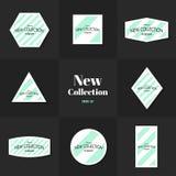 Linhas diagonais cartões da coleção Foto de Stock Royalty Free