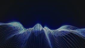 linhas digitais 2 da onda 3D video estoque
