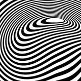 Linhas dinâmicas irregulares Curvy Teste padrão geométrico abstrato ilustração stock
