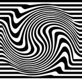 Linhas distorcidas A ondinha, pirueta distorceu linhas abstratas ilustração royalty free
