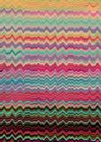 Linhas distorcidas retros fundo Foto de Stock Royalty Free