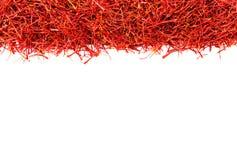 Linhas do açafrão de açafrão isoladas no branco Imagem de Stock