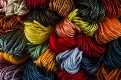 Linhas do algodão para o bordado Fotografia de Stock