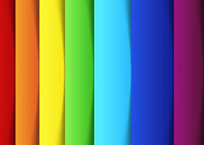 Linhas do arco-íris - molde novo da bandeira Imagem de Stock Royalty Free