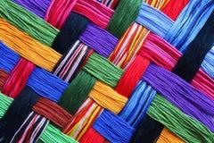 Linhas do bordado Fotografia de Stock