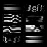 Linhas do fulgor da velocidade isoladas Grupo de sinais do movimento Ilustração do vetor ilustração do vetor