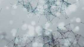 Linhas do fundo e pontos geométricos abstratos bonitos, plexo, bokeh video estoque