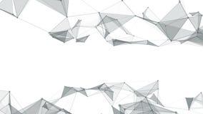 Linhas do fundo e pontos geométricos abstratos bonitos, plexo Movimento lento ilustração royalty free