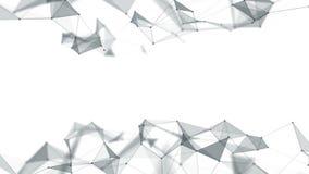 Linhas do fundo e pontos geométricos abstratos bonitos, plexo Movimento lento video estoque