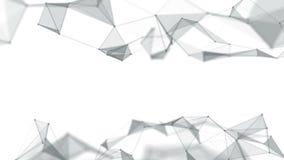 Linhas do fundo e pontos geométricos abstratos bonitos, plexo Movimento lento filme
