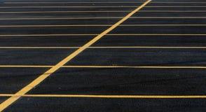 Linhas do lote de estacionamento Foto de Stock Royalty Free
