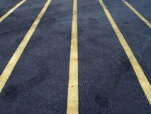 Linhas do lote de estacionamento Fotos de Stock