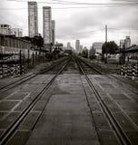 Linhas do trem imagem de stock