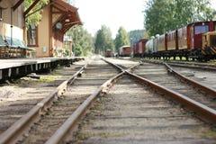 Linhas do trem de Kroderbanen, Noruega Foto de Stock
