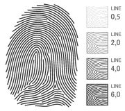 Linhas do vetor da impressão digital ilustração stock