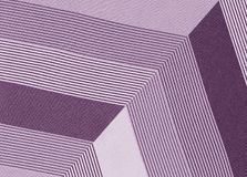Linhas e ângulos diagonais, roxo e branco fotografia de stock
