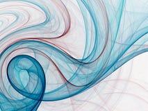 Linhas e azuis Imagem de Stock Royalty Free