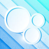 Linhas e círculos do papel azul do Aqua Imagem de Stock