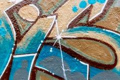 Linhas e cores dos grafittis Foto de Stock