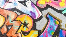 Linhas e cores dos grafittis Imagens de Stock