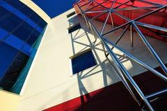 Linhas e cores na arquitetura Fotografia de Stock Royalty Free