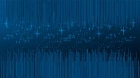 Linhas e estrelas, universo e fundo da tecnologia ilustração do vetor