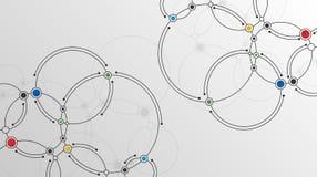 Linhas e fundo conectados da tecnologia dos pontos ilustração royalty free