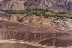 Linhas e geoglyphs de Nazca fotografia de stock royalty free