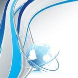 Linhas e globo Fotografia de Stock Royalty Free