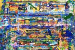 Linhas e pontos abstratos da pintura na parede Foto de Stock Royalty Free