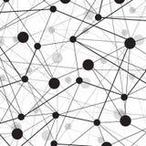 Linhas e pontos abstratos de conexões globais Imagens de Stock Royalty Free