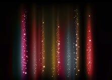 Linhas e pontos brilhantes abstratos das formas Imagem de Stock Royalty Free