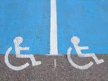 Linhas e símbolos para pessoas incapacitadas Imagem de Stock