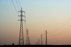 Linhas eléctricas fotografia de stock