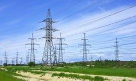 Linhas eléctricas Fotos de Stock
