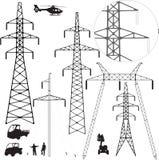 Linhas eléctricas. Foto de Stock