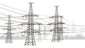 Linhas eléctricas ilustração do vetor