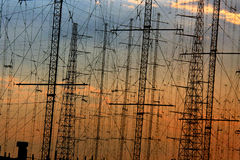 Linhas eléctricas Imagens de Stock
