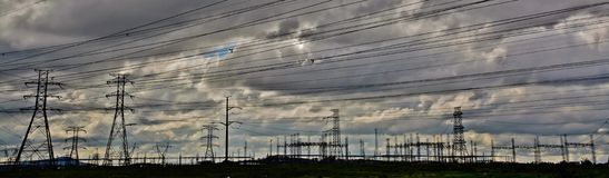 Linhas eléctricas Imagem de Stock