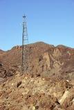 Linhas eléctricas de alta tensão da barragem Hoover Fotos de Stock Royalty Free